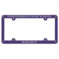 Independence Knights Plastic License Plate Frame