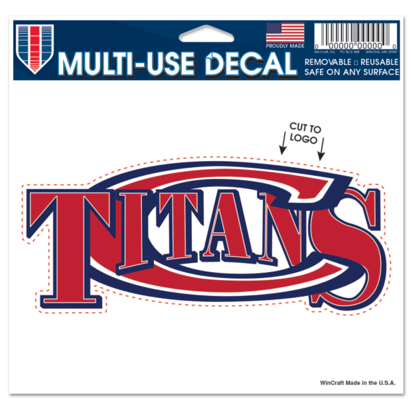 Centennial Titans 5x6 Multi Use Decal