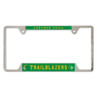 Lebanon Trail Blazers Metal License Plate Frame