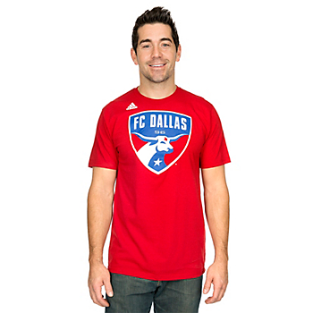 FC Dallas Adidas Short Sleeve Logo Tee