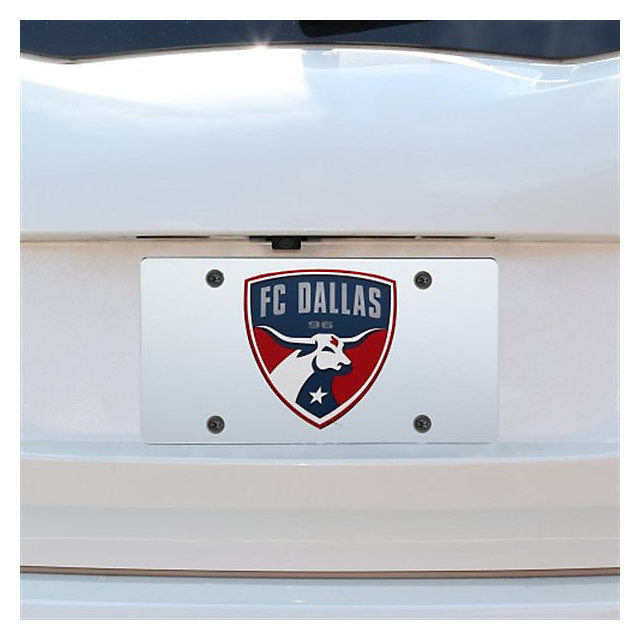 FC Dallas Silver Mirror Logo License Plate