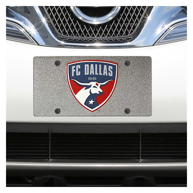 FC Dallas Glitter Logo License Plate