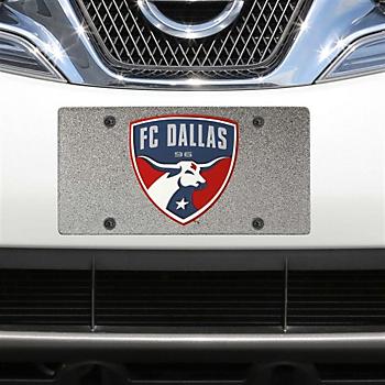 FC Dallas Glitter Logo License Plate