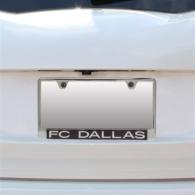 FC Dallas Carbon Fiber Logo License Plate