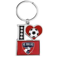 FC Dallas I Heart Soccer Keychain