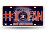Houston Astros Bling #1 Fan License Plate