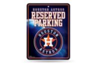 Houston Astros Metal Parking Sign