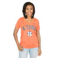 Houston Astros Nike Womens Orange Local Phrase Tee