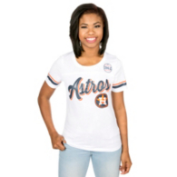 Houston Astros 5th & Ocean Ladies Short Sleeve Scoop Neck Tee