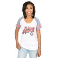 Houston Astros 5th & Ocean Ladies Triblend Raglan V-Neck Tee