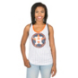 Houston Astros 5th & Ocean Ladies Pinstripe Racerback Tank