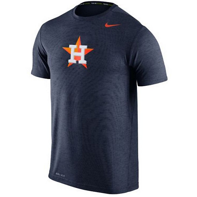 Houston Astros Nike Heather Dri-FIT Touch Short Sleeve Tee