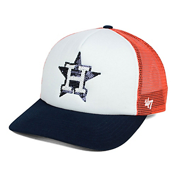 Houston Astros 47 Womens Glimmer Captain Snapback Cap