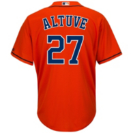 Houston Astros Majestic Youth Jose Altuve Replica Fashion Jersey