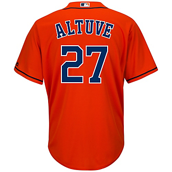 Houston Astros Majestic Youth Jose Altuve Replica Fashion Jersey