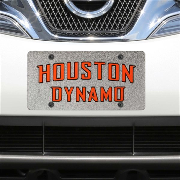 Houston Dynamo Black Glitter Logo License Plate