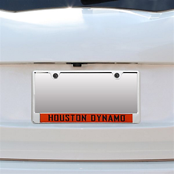 Houston Dynamo Team Color Background License Plate Frame