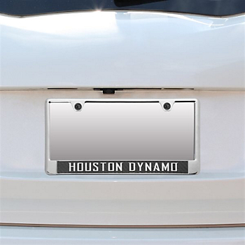 Houston Dynamo Acrylic Carbon Fiber License Plate Frame
