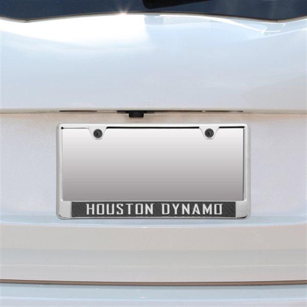 Houston Dynamo Acrylic Carbon Fiber License Plate Frame