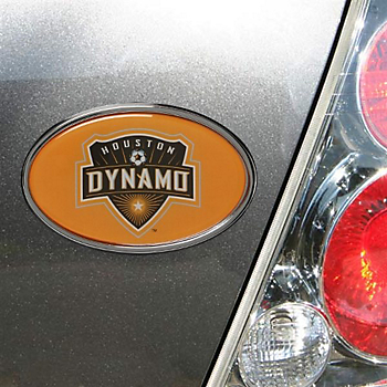 Houston Dynamo Chrome Oval Domed Logo Emblem