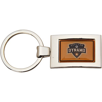 Houston Dynamo Arched Rectangle Keychain