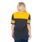 Highland Park Scots 47 Womens Triblend Striped Sleeve Tee
