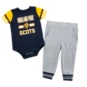 Highland Park Scots Colosseum Infant Boys Long Run Football Onesie and Pant Set