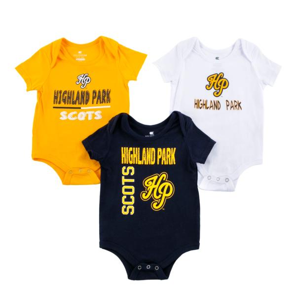 Highland Park Scots Colosseum Infant Boys 3-Pack Onesie Set
