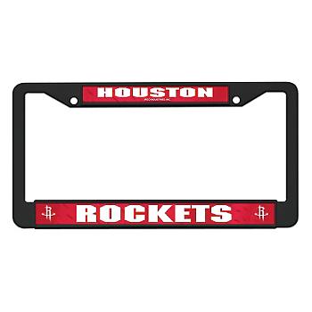 Houston Rockets Black License Plate Frame