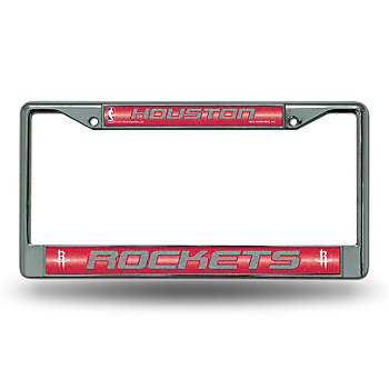Houston Rockets Bling Chrome License Plate Frame