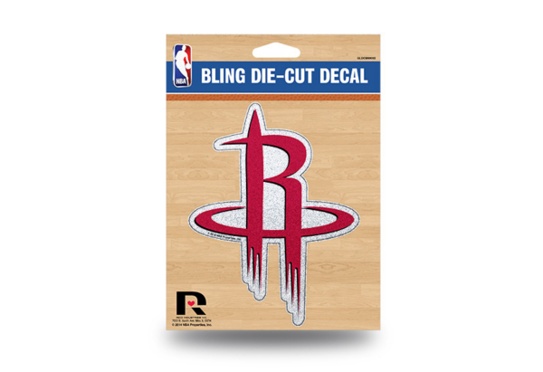 Houston Rockets Bling Die-Cut Decal