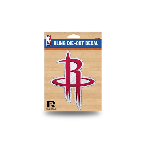 Houston Rockets Bling Die-Cut Decal