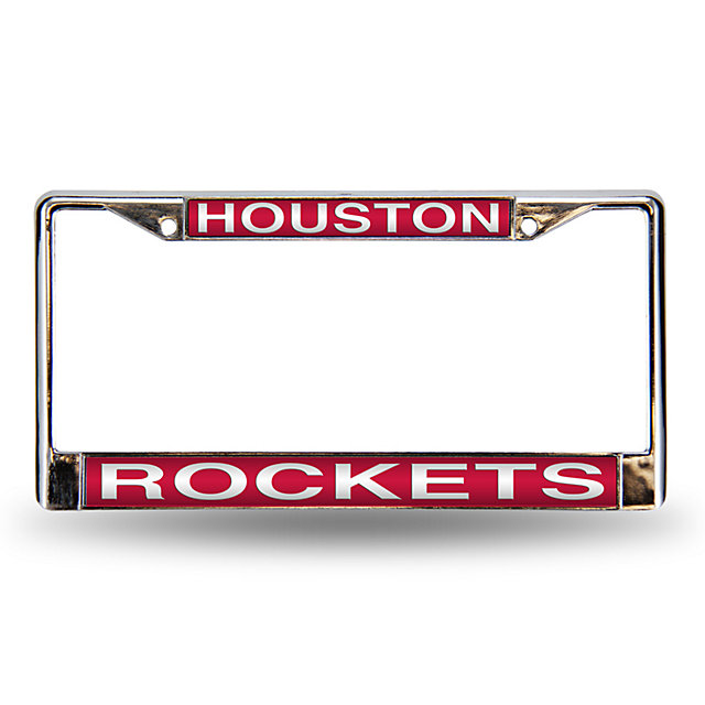 Houston Rockets Laser Chrome License Plate Frame