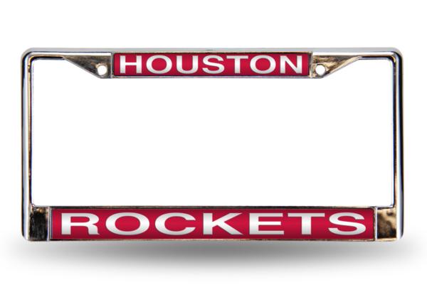 Houston Rockets Laser Chrome License Plate Frame