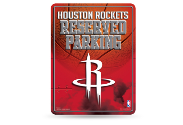 Houston Rockets Metal Parking Sign