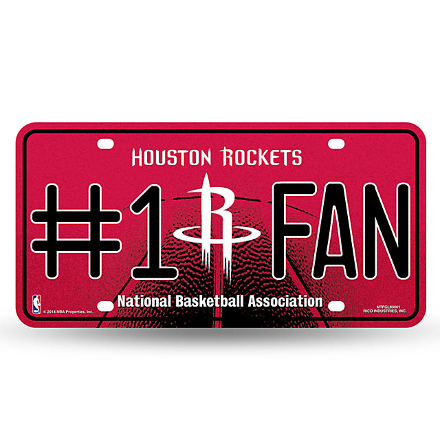 Houston Rockets Bling #1 Fan License Plate