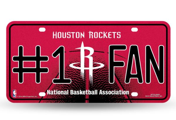 Houston Rockets Bling #1 Fan License Plate