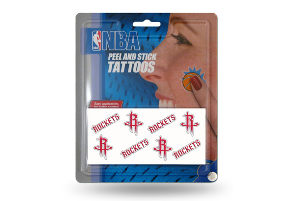 Houston Rockets Peel And Stick Tattoos