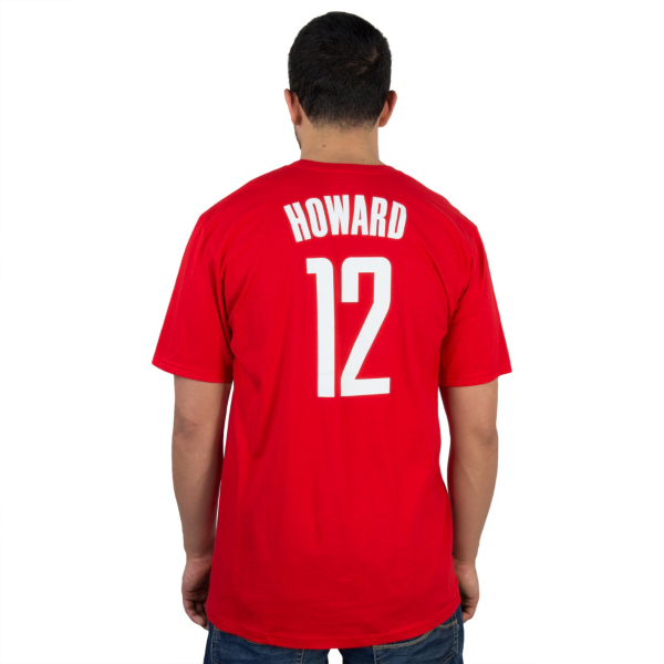 Houston Rockets Adidas Dwight Howard #12 Name & Number Tee