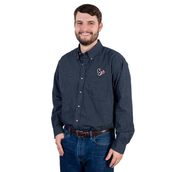 Houston Texans Antigua Esteem Button Down Shirt