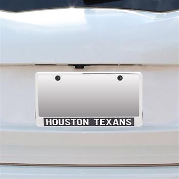 Houston Texans Carbon Fiber License Plate Frame