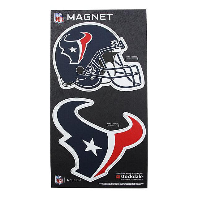 Houston Texans 2-Pack Helmet/Logo Magnet