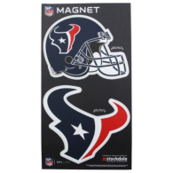 Houston Texans 2-Pack Helmet/Logo Magnet