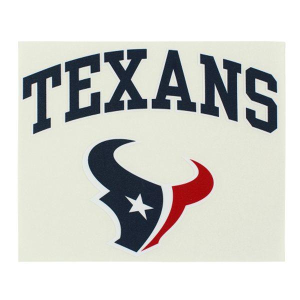 Houston Texans 8x8 Arched Logo Color Decal