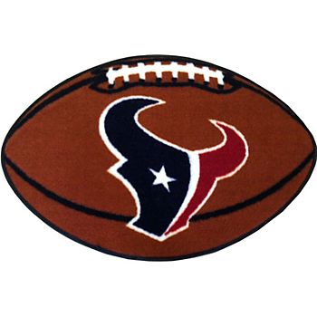 Houston Texans Football Shaped Mat