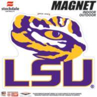 LSU Tigers 6x6 Magnet