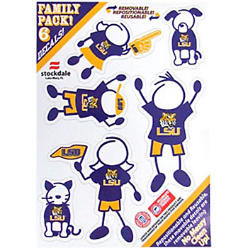 LSU Tigers 5x7 Family Decals