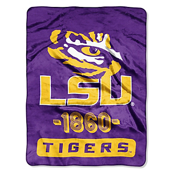 LSU Tigers Micro Raschel Throw