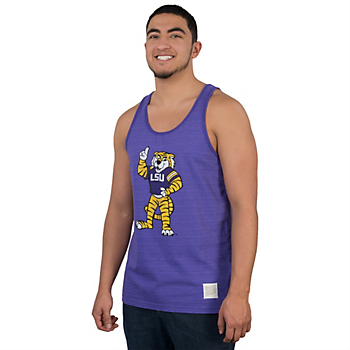 LSU Tigers Retro Beach Stripe Tank