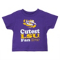 LSU Tigers Toddler Short Sleeve Fan Shirt